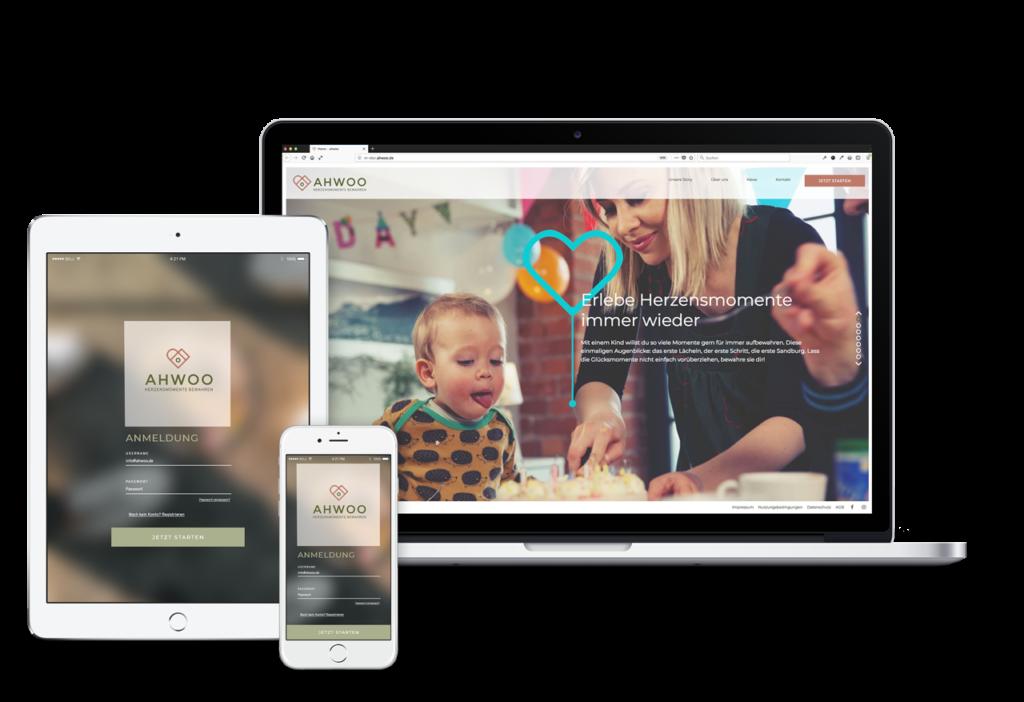 ahwoo ist für Desktop, Notebook, Tablet und Smartphone.